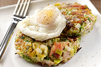 Leek-&-Pulled-Ham-Bubble-&-Squeak-with-a-Poached-Egg