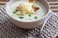 Spring onion & Cheddar soup
