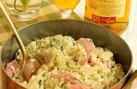 Ham hock and parsley risotto