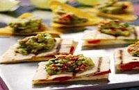 Peppadew Guacamole on Quesadillas