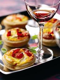 Mini Peppadew and goat's cheese tarts