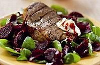 Seared Aberdeen Angus Steak with Baxters Chilli & Lime Beetroot and Horseradish Sauce