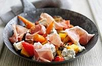 Roasted Vegetables with Gorgonzola and Parma Ham