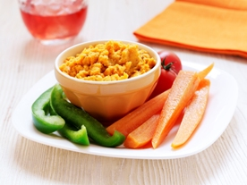 Roasted Carrot and Houmous Dip