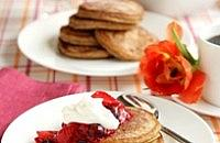 Cinnamon Pancake Stacks with Berry Jam