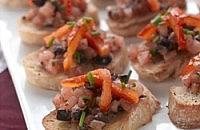 Pepper crostini