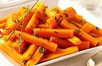 Chardonnay Glazed Carrots with Chive Butter
