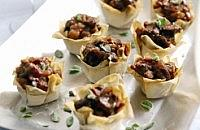 Beef, Olive and Red Onion Canapés