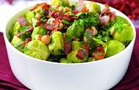 Bacon and hazelnut sprouts