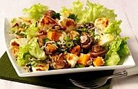 Roasted Mushroom, Squash and Halloumi Salad