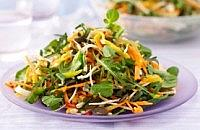 Detox vegtable salad with mango and chilli