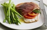 Parma Ham-wrapped Cod with Basil and Tomatoes