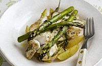 Red Bream with asparagus & potatoes