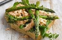Asparagus, crab & watercress sandwiches