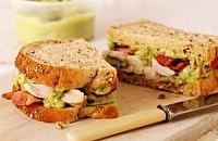 Guacamole bacon and chicken sandwich