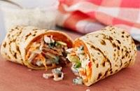 Smoked salmon and crunchy slaw wrap