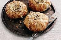 Cheese and onion puff pies