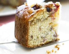 Berries, cherries and apple cake
