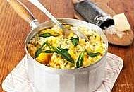 squash risotto with sage and blue cheese