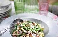 Hot Smoked Salmon Salad with Sugar Snaps