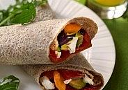 Goats' Cheese And Roast Vegetable Wrap