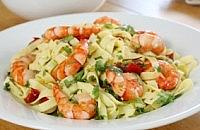 Mediterranean Cherry Pepper and Prawn Tagliatelle