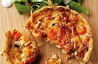 Crayfish, Gruyere and Tomato Tart