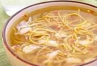 Crab and noodle soup