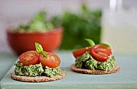 Parsley and Mint Pesto with Cherry Tomatoes