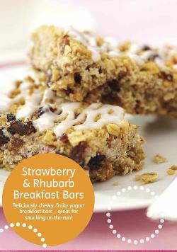 strawberry & Rhubarb breakfast bars