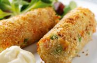 Cottage cheese croquettes