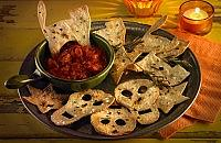Spooky chips and dip