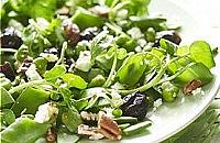 Broad Bean, Watercress, Feta and California Prune Salad