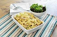Ham, leek and cheese pasta