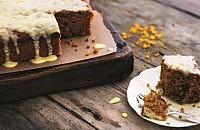 Carrot Cake with Yogurt Drizzle Icing