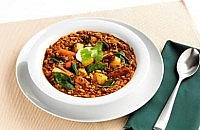 Spicy mince and lentil stew