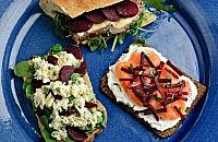 Smoked salmon, beetroot, cream cheese & chives