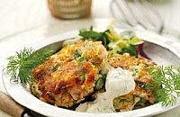Salmon and mint fishcakes
