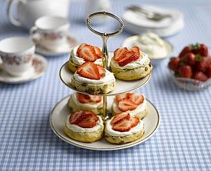 Classic scones with Sweet Eve strawberries and cream