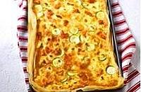 Salmon, courgette and feta tart