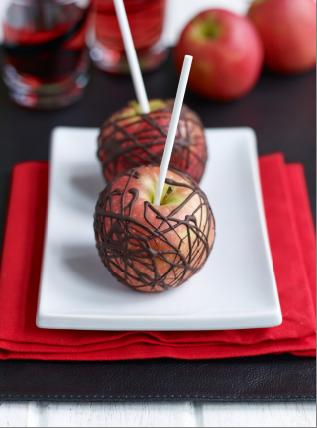 Pink Lady chocolate apples
