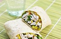 Chicken Caesar Salad with Wrap