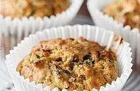 Courgette and spinach muffins