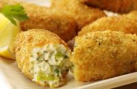 Cheese and leek croquettes
