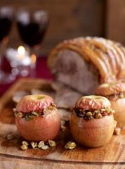 Savoury baked Pink Lady apples