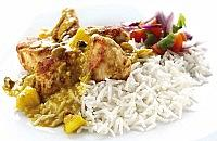 Chicken with a Fruit Curry Sauce