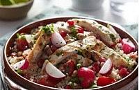 Radish and quinoa tabouleh