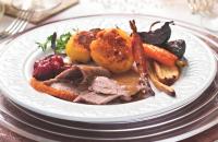Slow-roast goose