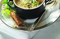 Parsnip and Cheddar soup