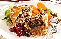 Mushroom and shallot pie